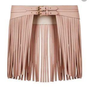 BCBG French blush waist belt